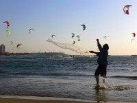 Drachen am Strand
