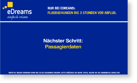 eDreams Passagierdaten