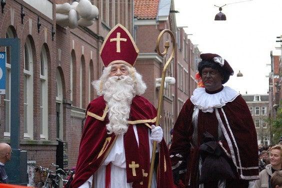 Weihnachten Amsterdam Sinterklaas Zwarte Piet