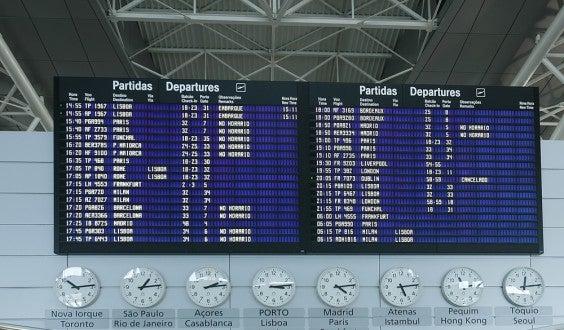 Frankfurt Abflugplan