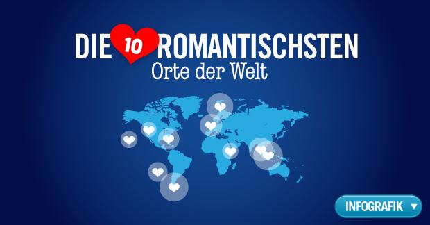 Die romantischsten Orte der Welt