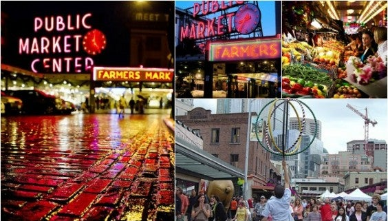 Collage Pike Place Market Seattle