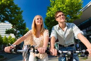 Fahrradtour durch die Stadt