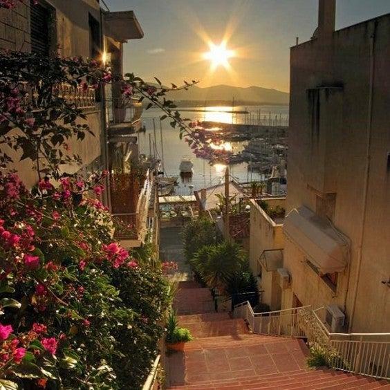 Sonnenuntergang in Kastella Athen