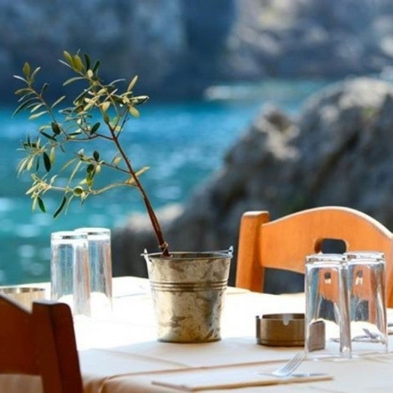 Restaurant mit Meerblick Athen