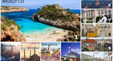 Die Top Reiseziele für den Sommerurlaub 2014