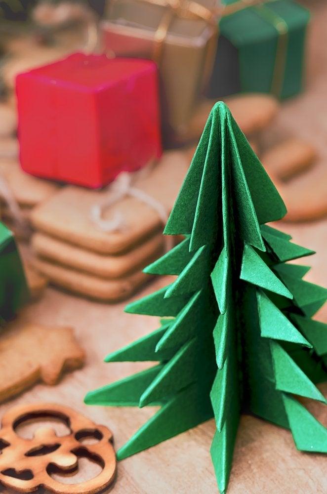 basteln für weihnachten, weihnachtsbasteln, weihnachten basteln, origami weihnachtsbaum