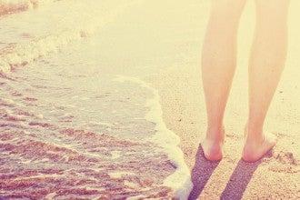 füße strand sand wellen meer ozean